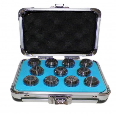 """ER20 COLLETS SET 11 PCs 1/8"""" to 1/2"""" PRIME QUALITY TESTED RUN OUT 0.0003"""""""