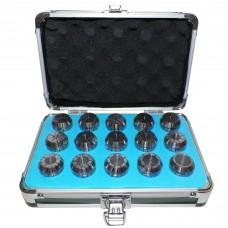 ER25 COLLETS SET 15 PCs  Size 3/32 - 5/8 inch
