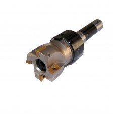 """2"""" Face Shell Mill Cutter 90 Degree 4 Flutes R8 Face Milling Cutter with Inserts"""
