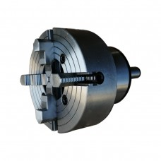 """10"""" ( 10 inch)  4 Jaw Lathe Chuck with MT5 Shank Rotating Plate MT5250R4J"""