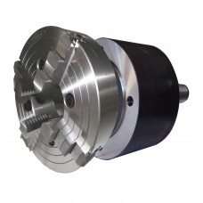 """10"""" ( 4 inch)  4 Jaw Lathe Chuck with MT5 Shank Rotating Plate 01106MT5250R4J"""