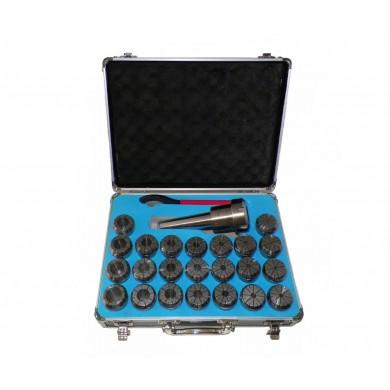 MT5 (MORSE TAPER 5) ER40 COLLET CHUCK TOOL HOLD SET 23 PCs ER 40 COLLETS HOLDER