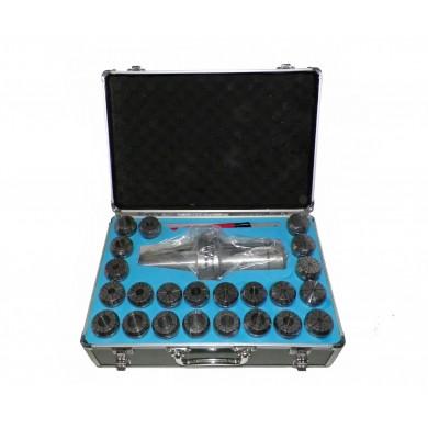 BT50 ER40 MILLING COLLET CHUCK SET 23 PCs 1/8