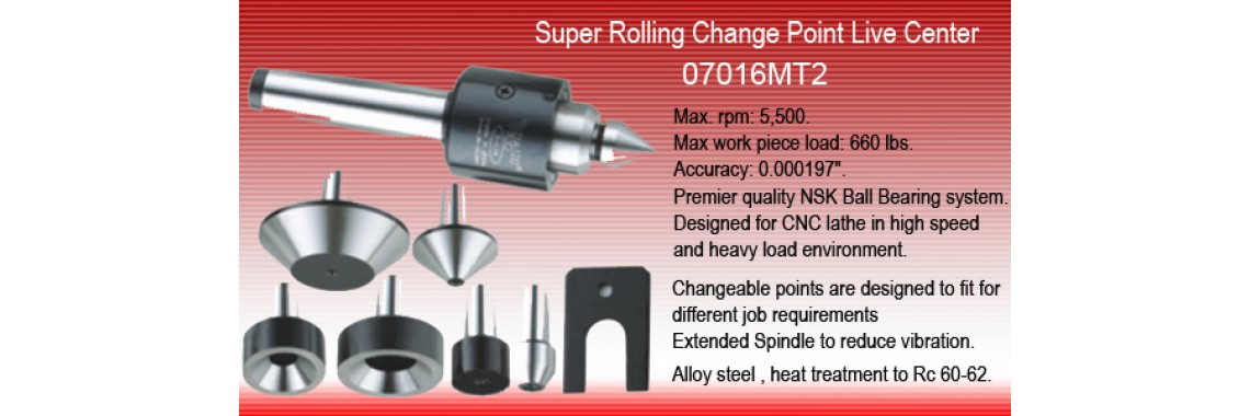 Super Rolling Changeable Point Live Center