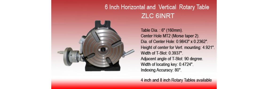 6 INCH HORIZONTAL and VERTICAL ROTARY TABLE IN PRIME QUALITY
