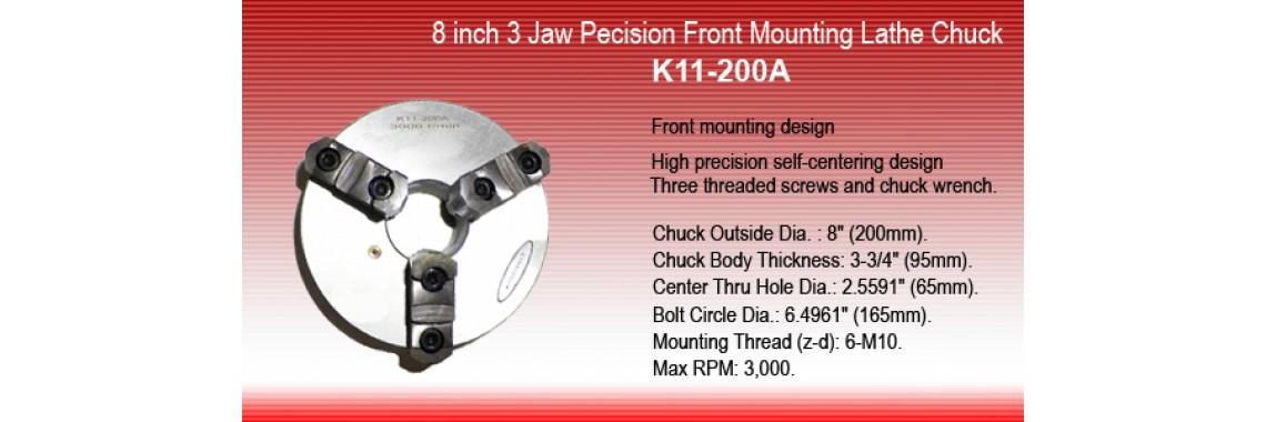 8 Inch 3 Jaw Precision Self Centering Lathe Chuck