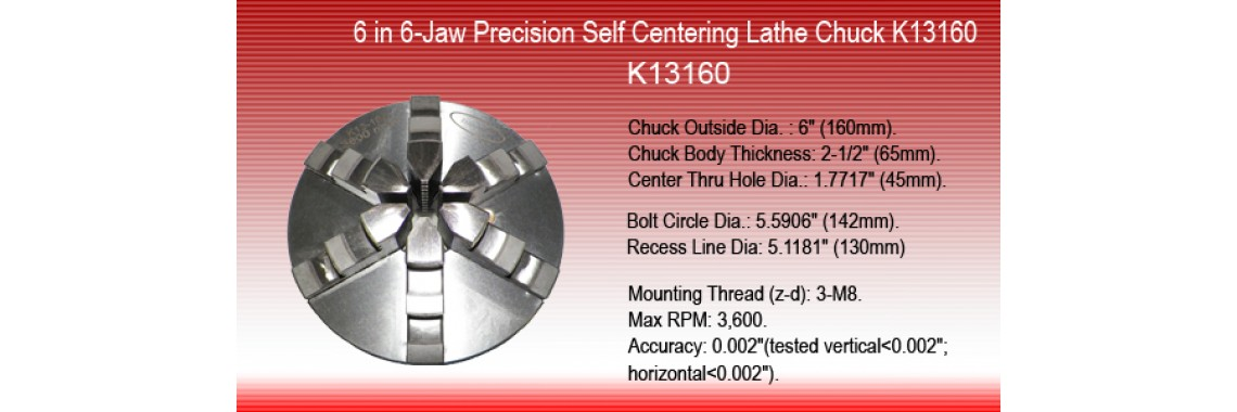 6 inch  6-Jaw Precision Self Centering Lathe Chuck K13-160