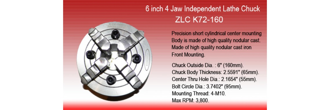 6 inch 4 Jaw Independent Lathe Chuck K72-160