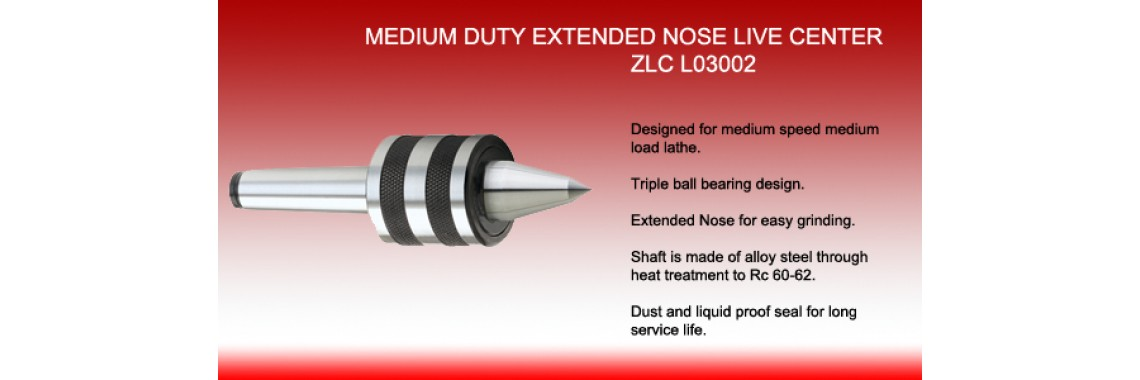 Medium Duty Extended Nose Live Center